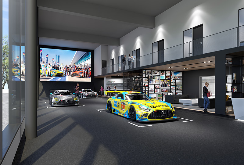 Neubau Rennstall HRT Race Base am Nürburgring